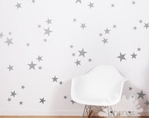 3 Size Star Wall Decal / Star Decal / Gold stars decal / 69 Stars Pattern