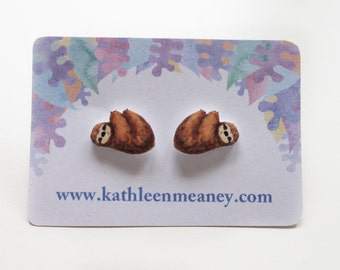 Sloth stud animal earrings