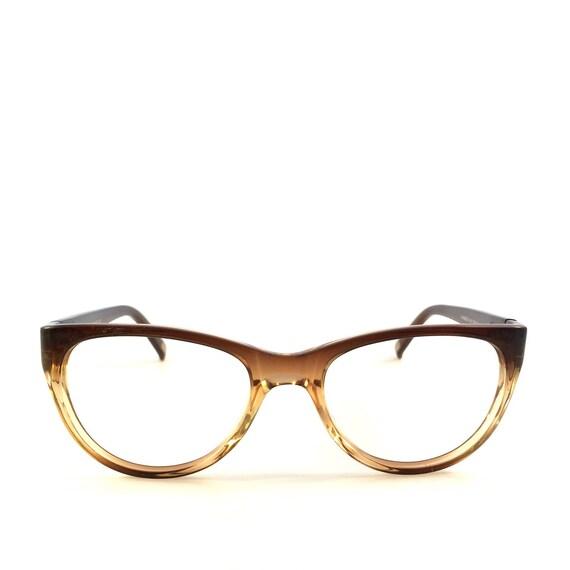 ombre brown cateye shaped glasses eyeglasses or by lookeyewear