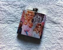 Handmade Dolly Parton 6oz hip flask