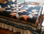 Aurora Borealis queen-sized reversible Two-in-One quilt