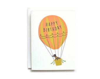 Air Balloon - Happy Birthday Card