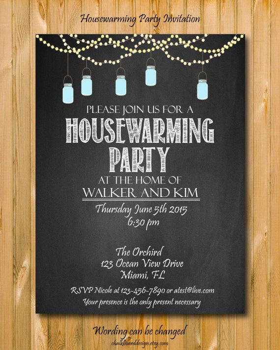 housewarming party invitation diy party invitation. Black Bedroom Furniture Sets. Home Design Ideas