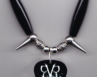 Black Veil Brides Black/White Guitar Pick Necklace