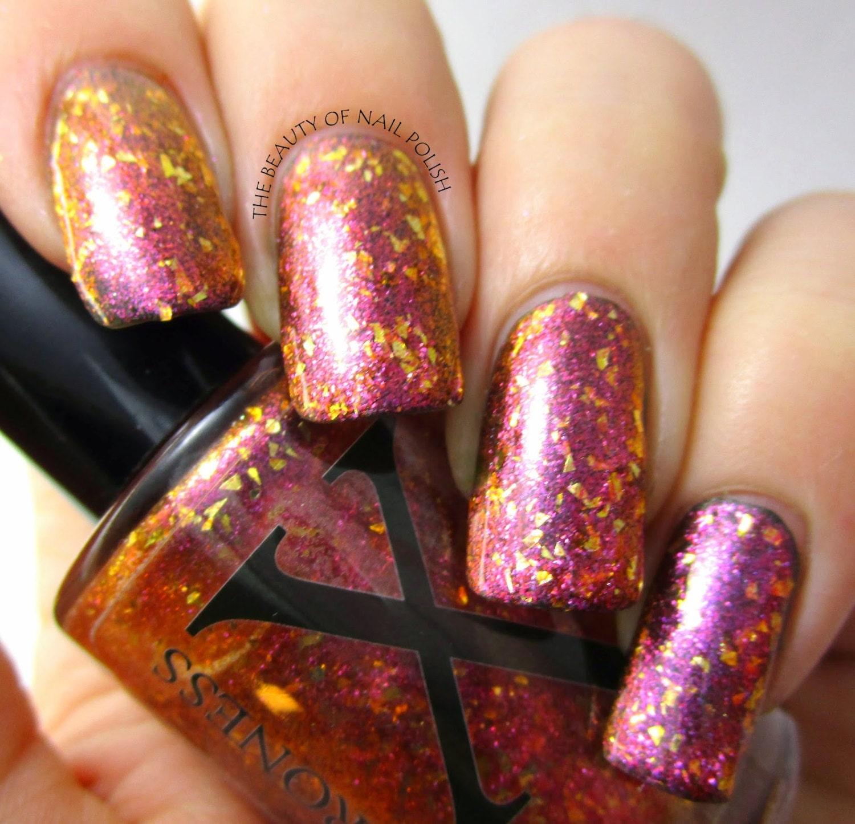 Fleck Nail Polish Gold