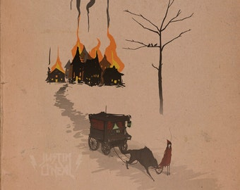 the witch & the wolf pt 3 - fine art print - 9x12