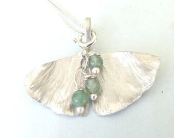 Sterling Ginkgo Biloba Leaf Necklace