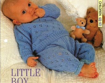 """Knitting pattern - Baby """"Little Boy Blue"""" suit - Instant download"""