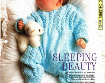 "Knitting pattern - Baby's ""Sleeping Beauty"" - Instant download"