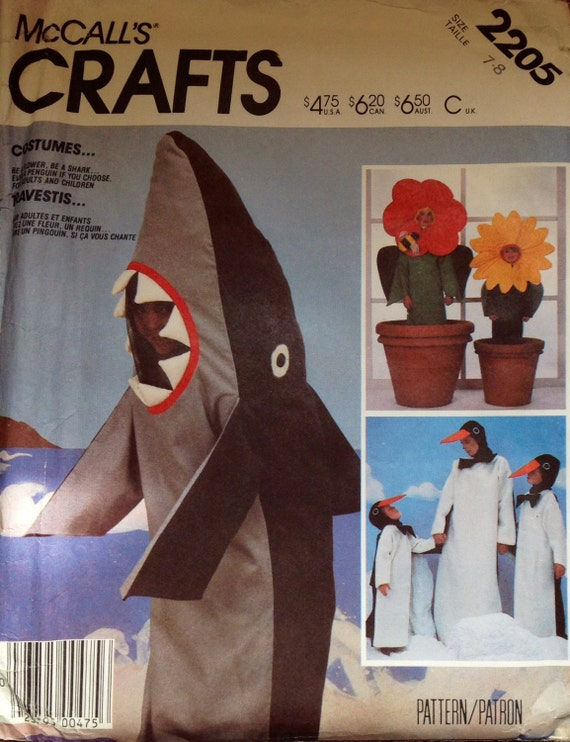 how to craft mccall s crafts 2205 childrens shark by lonestarblondie 2205