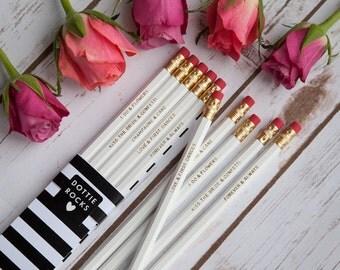 SALE - Wedding Pencils Set of 5, Wedding Gift