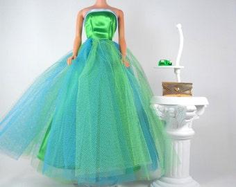 Beautiful Barbie Senior Prom Gown Reproduction Dress Shoes Purse Repro