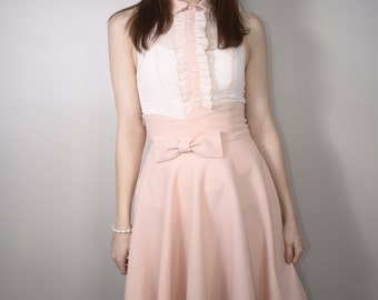 "The ""Anna"" High Waisted Circle Skirt with Bow"