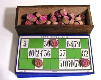 French Classic Loto Card Game - Vintage Loto Game - Bar Game - 1940 - Made in France - Collectible Games - Retro French Bars