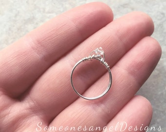 Engagement Ring, Sterling Silver Ring, Statement Ring, Pinky Ring, Promise Ring, Bridal, Solitaire Ring, Silver Ring, Diamond Ring
