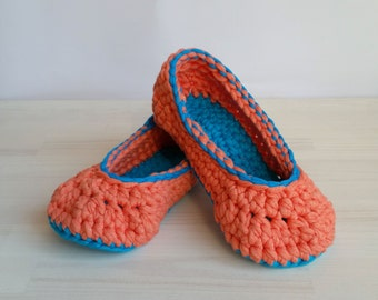 Crocheted slippers for ladies and kids sizes, ballerina flats, mary janes, very comfort, durable, elastic