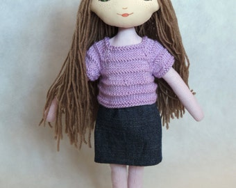 Lilac Dollisia – cloth doll