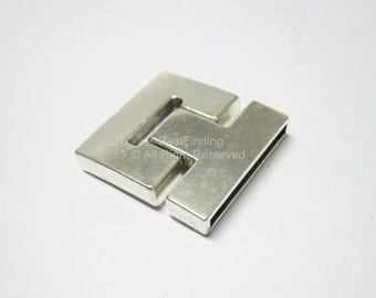 30mm magnetic clasp Buckle 30x2mm Strong magnet Flat leather clasps - 3pcs