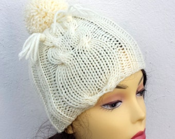 Hand Knitted kids knit hat toddler children  hat  , girl boy knit hat, knit hat for children owl hat
