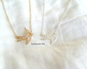 sparrow necklace, Swallow necklace, Swallow necklaces, Swallows necklace, Swallow, sparrow, bird necklace, silver sparrow necklace