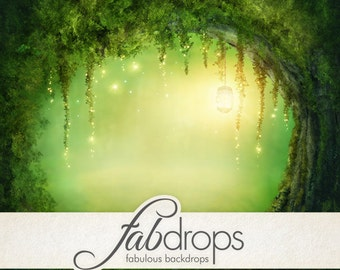 Enchanted Forest Photography Backdrop Scenic For Magical Fairy Photo Shoot Photo Drop (FD5044)