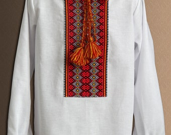 Ukrainian embroidered shirt for boys. Folk Ukrainian shirt.