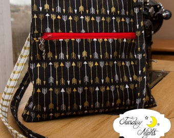 Vivian small Crossbody Purse Bag  Sewing Pattern PDF