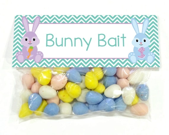 Adaptable image inside bunny bait printable