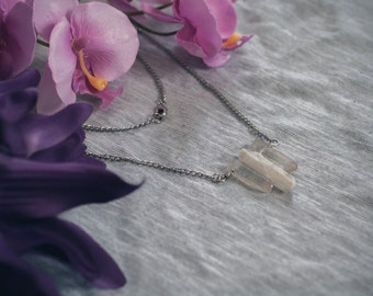 Raw Crystal Necklace / Raw Quartz Necklace / Quartz Necklace / Crystal Necklace / Raw Crystal Jewellery / Statement Necklace / Raw Quartz