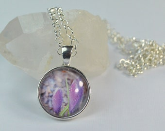 Photo Necklace, Flower Necklace, Crocus Necklace, Photography Necklace, Photograph Necklace, Spring Necklace, Original Photography Jewelry
