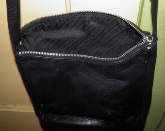 Vintage LIz Claiborne Leather Purse with Zippers