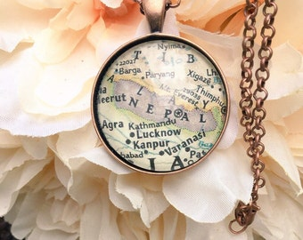 Custom Map Necklace/ Charleston Map Necklace
