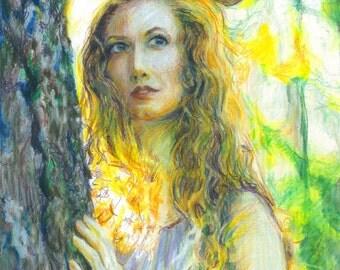 Custom Color Pencil Portrait - Single Figure - A4 - from Photo