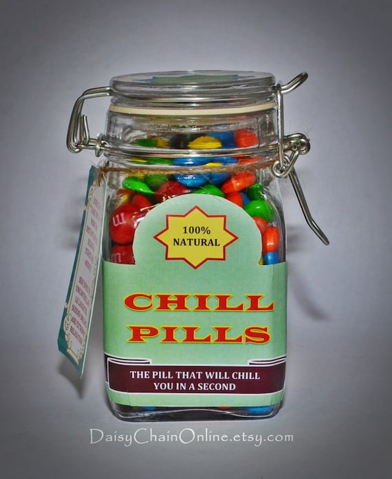 Chill Pill The Best Gag Gift Funny Gift For By