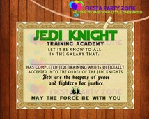 Star wars jedi training certificate template hot girls for Jedi certificate template free