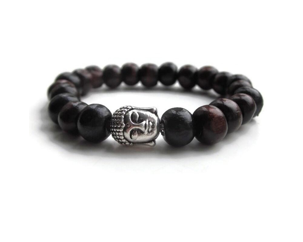 wooden bead bracelet buddha bracelet mens bead bracelet. Black Bedroom Furniture Sets. Home Design Ideas