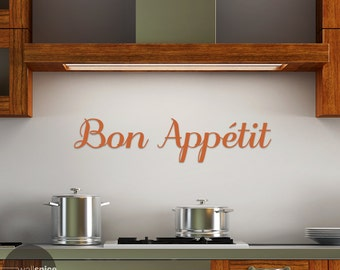 Bon Appetit Vinyl Wall Decal Sticker Kitchen