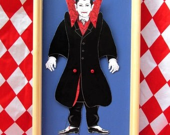 Vampire jumping-jack puppet-making kit