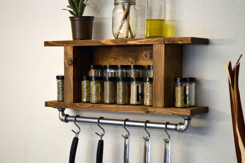 Modern Kitchen Shelf Pot Rack Wall Spice Rack By