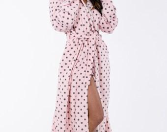 Long Hooded Robe Super Lux Super Mink Long Hoodie