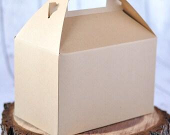 6-pack Large Kraft Gable Boxes