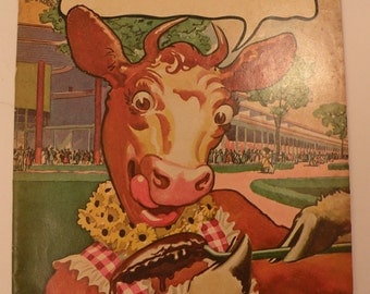 108 World's Fair Recipes From Borden's 1939 Elsie The Cow Rare Collectible Excellent Condition