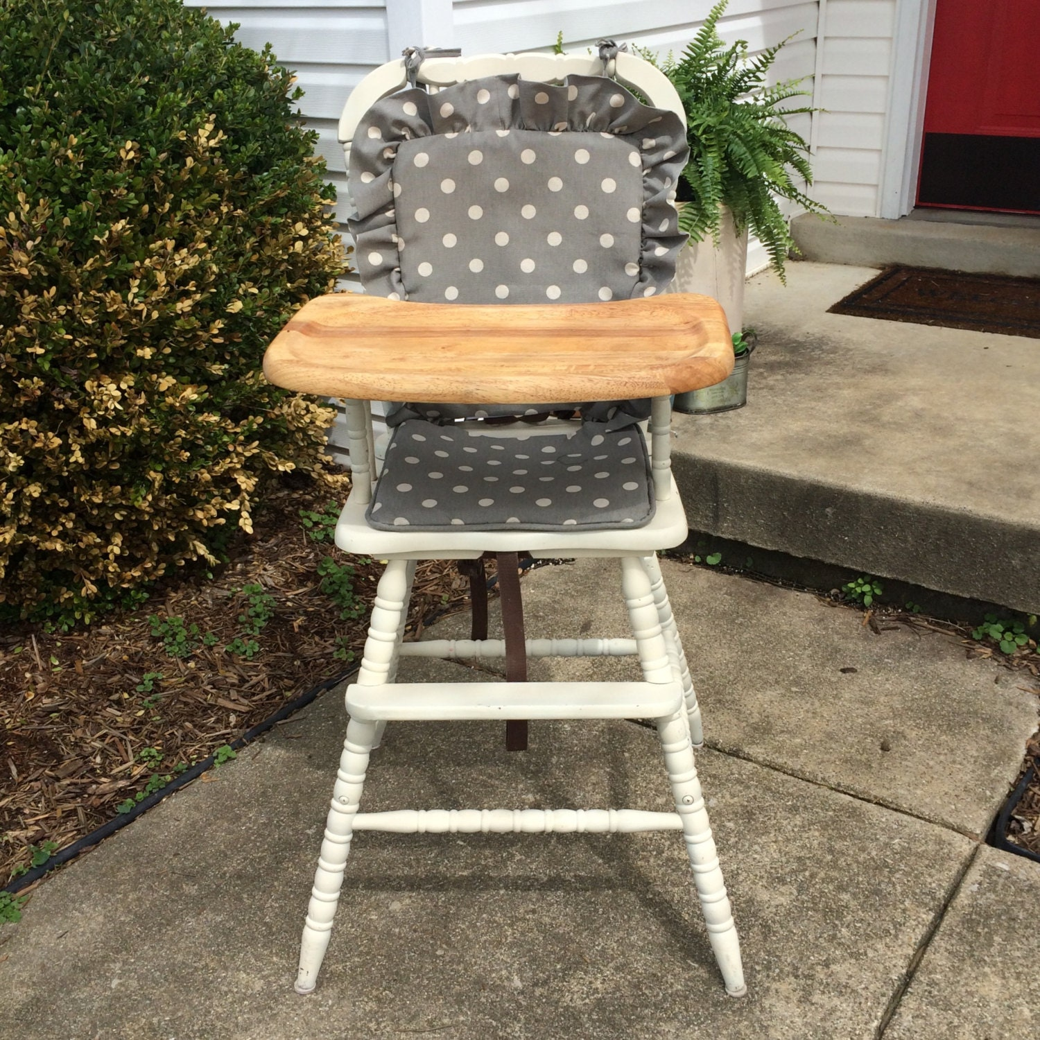 wooden highchair cover cushion pad high chair
