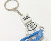 Lego® Minecraft SKELETON Keychain, Lego Minecraft Keychain, BOGO Buy 1 Get 1 Lego® Minifigure Keychain, LEGO Minecraft Party Favors Gifts