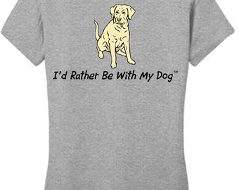 Yellow Lab T Shirt (ladies)