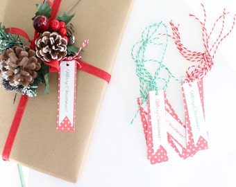 Merry Christmas gift tags - Christmas decor- holiday gift tags- holiday gift wrap- Christmas gift wrap