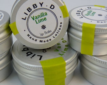 Vanilla & Lime Smoothie Lip Balm for extra soft smoochie lips