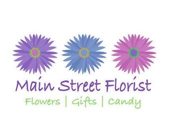 Premade Flower Shop Logos - Florist  Logos - Flower Logos - Greenery Logos - Plant Logos