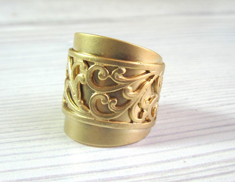 wide gold band ring wide band ring gold ring gold by