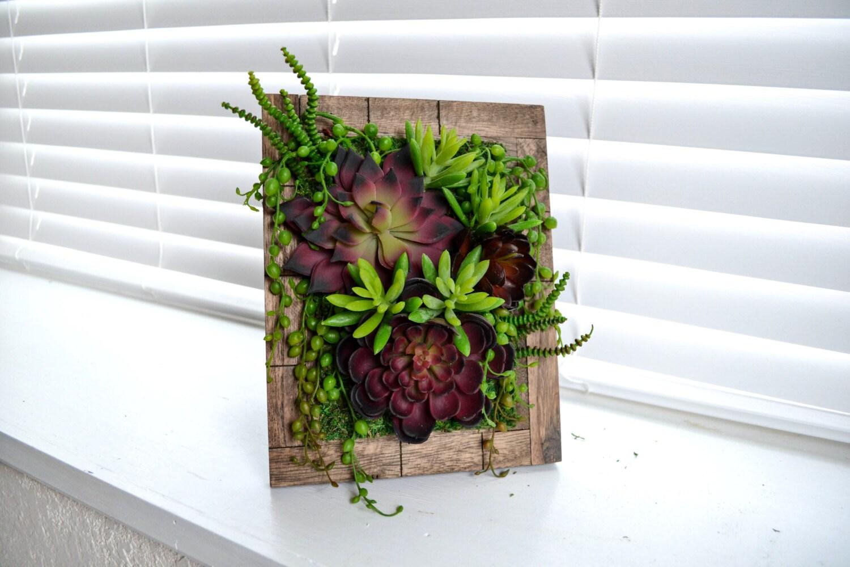 Vertical Artificial Succulent Garden X By